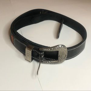 Levi's Orange Tab Black Genuine Leather Belt